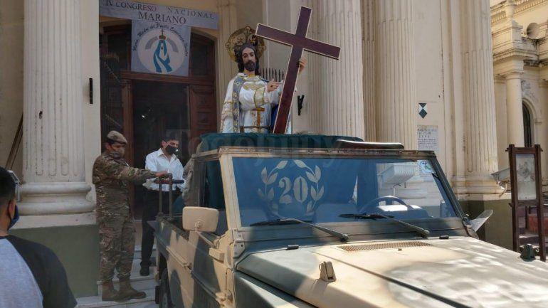 Jujuy: seguí en vivo el recorrido del Santísimo Salvador