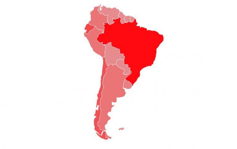 Coronavirus: En Sudamérica hay más de 6700 casos confirmados