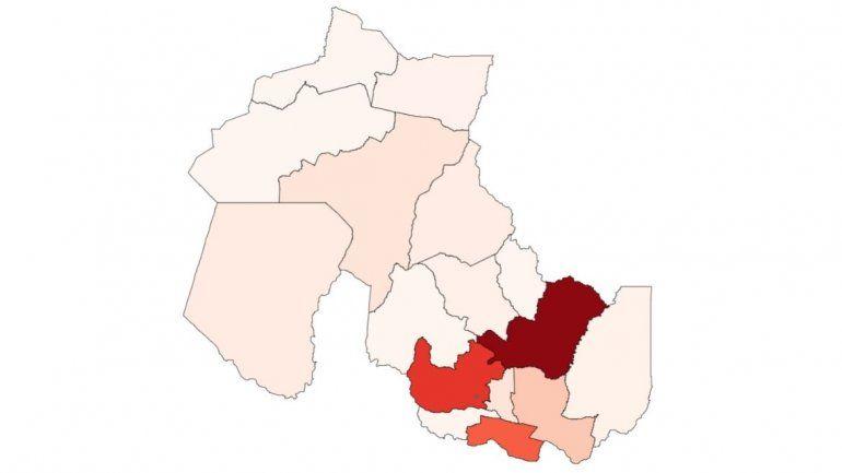 Coronavirus en Jujuy: más del 80% en 4 departamentos