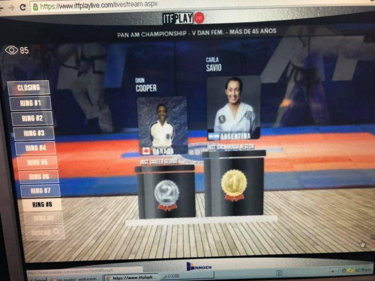 La jujeña Carla Savio es la nueva campeona del Panamericano virtual de forma