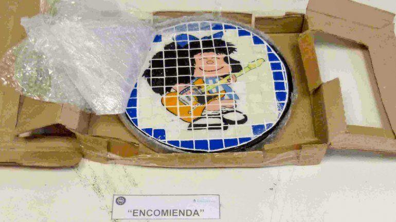 Desarticularon una banda que traficaba drogas con la imagen de Mafalda