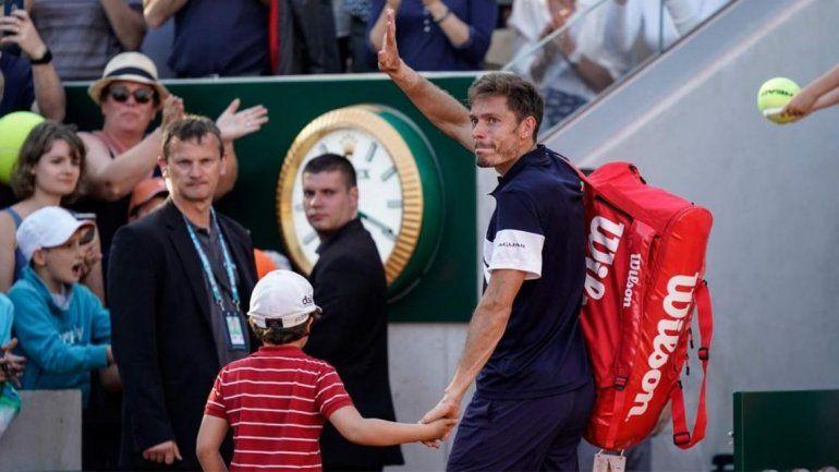 Un tenista francés perdió en su ultimo partido y su hijo emocionó al mundo