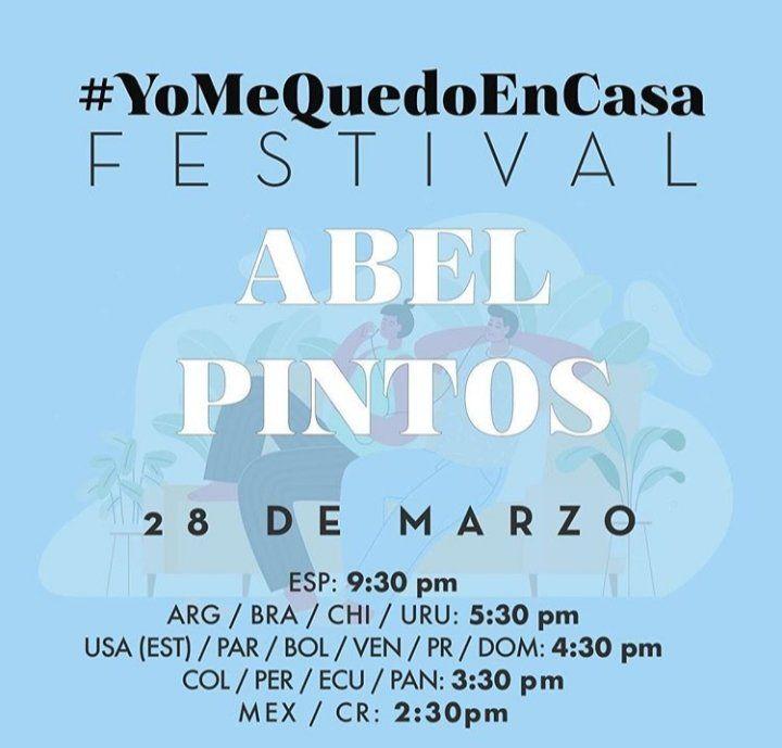 Festival streaming: Abel Pintos en un concierto en Instagram