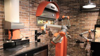 En Francia abrieron una pizzería controlada solo por robots.