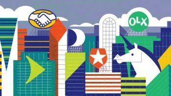 Una ilustración con los logos de algunos de los once unicornios argentinos.