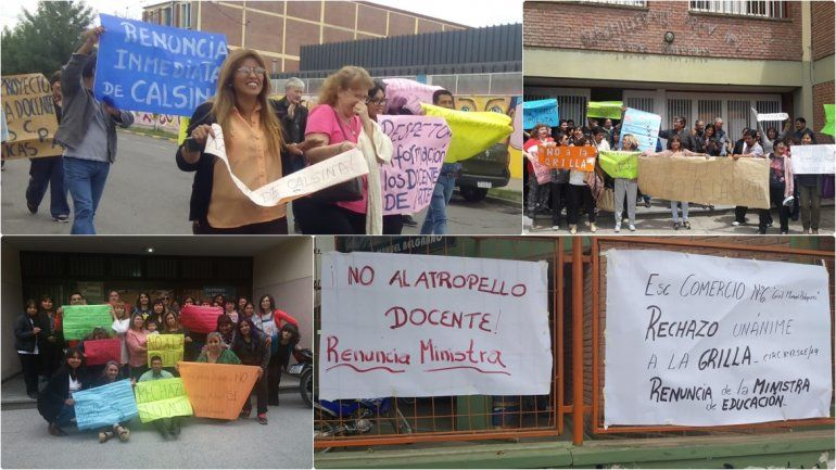Docentes rechazan la Grilla de Clasificación y piden la renuncia de la ministra de Educación