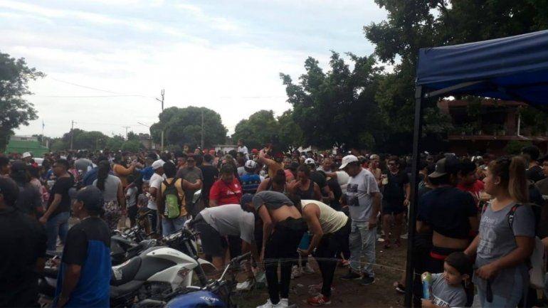 Fiesta suspendida en Libertador.