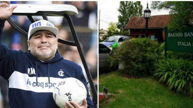 Así es la casa donde murió Diego Maradona