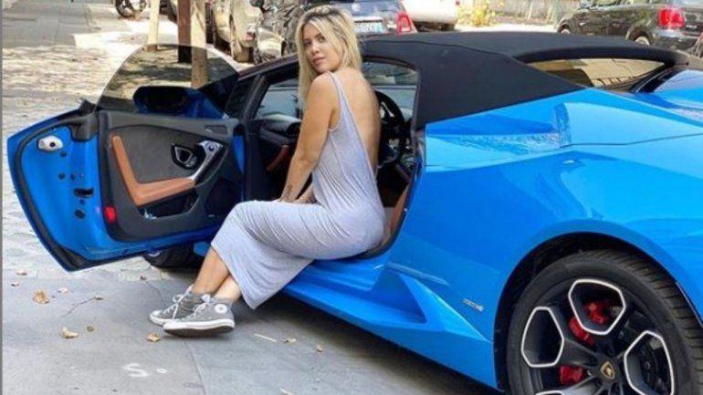 Wanda Nara publicó una foto en su Lamborghini y explotaron las críticas