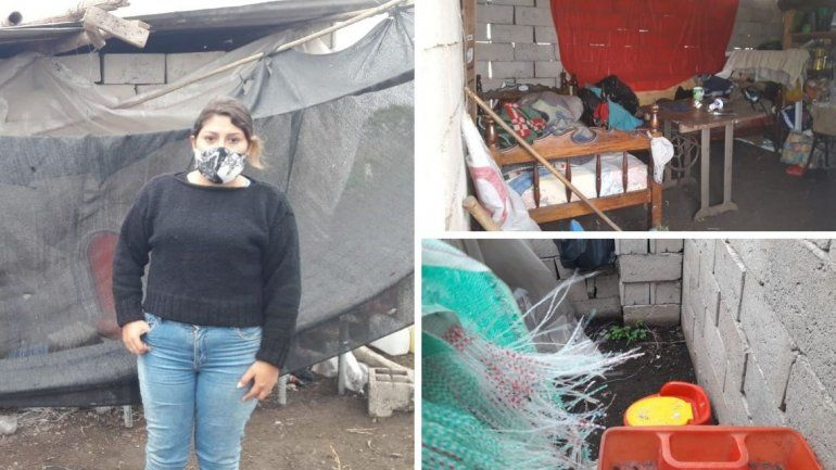 Carla Tarifa vive en las 14 Hectáreas y pide ayuda de la sociedad.